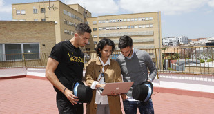 Feddal y Sarabia se interesan por La Azotea Azul con Marta Baturone / Raúl Doblado