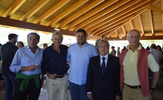 Jaime Fernández Argüeso, Pedro González Valverde, Santiago Urquijo, Matías Montero y Antonio Ybarra
