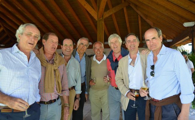 Ignacio Alba, Jesús Lama, Ángel Concejo, Augusto Lahore, José María Pérez de Ayala, José María Gutiérrez-Alviz y Jaiver Maestro y Jaime Mora-Figueroa