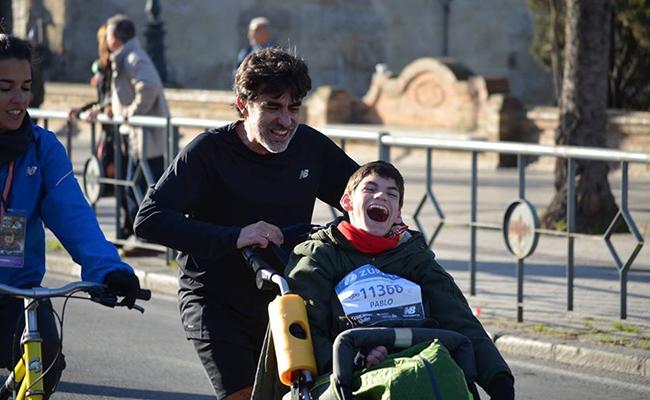 José Manuel con su hijo Pablo