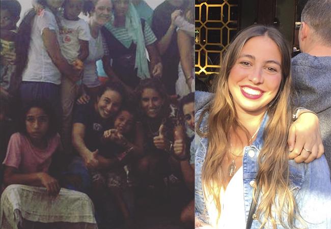 Julia a la izquierda en su viaje de voluntariado a Marruecos