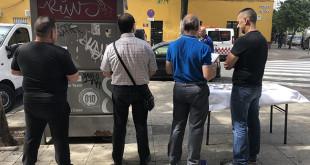 Un momento del servicio solidario de reciclaje en Sevilla / OS la Caixa