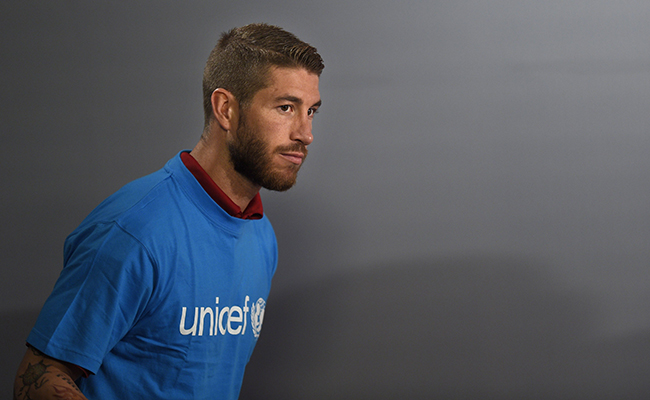 Sergio Ramos fue nombrado embajador de Unicef en 2014 / AFP PHOTO/ LLUIS GENE