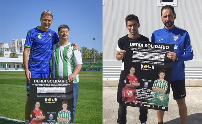 Jugadores del Betis y del Sevilla apoyan el derbi solidario / Down Sevilla