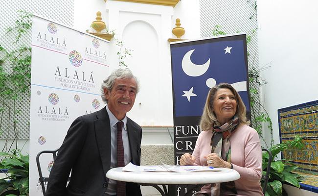 Los presidentes de ambas fundaciones, Cristina Heeren y José María Pacheco