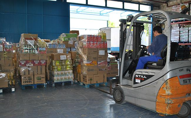 Cada día el Banco de Alimentos puede entregar una media de 14.000 kilos de alimentos a entidades sociales