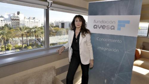 Ana Manzanares en su despacho de la Fundación Ayesa